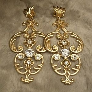 F21 brushed gold earrings